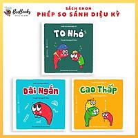 Sách Ehon Nhật Bản- Bộ sách Phép So Sánh Diệu Kỳ dành cho bé từ 2-6 tuổi-Bộ ehon giúp bé làm quen với các phép so sánh cơ bản. Bee Books