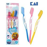 Set 4 dao cạo lông mày pretty Kai- thiết kế tiện dụng
