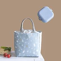 Túi đựng hộp cơm giữ nhiệt/ Túi đựng đồ ăn trưa/ Túi chống toả nhiệt ( 22 x 20 x 15) TL 165 - Quà Tặng Bộ Thìa Dĩa Cá Nhân Cao Cấp