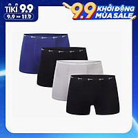 Combo 4 quần lót nam Boxer sợi cạp 1cm sợi tre tự nhiên mềm mịn thấm hút mồ hôi, co giãn 4 chiều MRM Manlywear (3 màu)