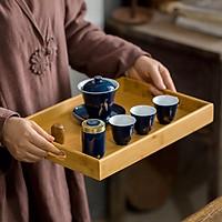 Khay trà bằng gỗ tre tự nhiên cao cấp, khay gỗ tre đựng trà đạo, đựng thức ăn có quai cầm bằng chất lượng cao - Hàng xuất khẩu sản xuất tại Việt Nam