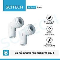 Combo 2 co nối nhanh ren 10 ra dây 6 (Co vỏ màng) dùng trong máy lọc nước - Hàng chính hãng