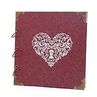 Album ảnh cưới DIY bìa trái tim