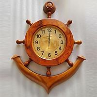 Đồng hồ treo tường mỏ neo gỗ cẩm lai cao 80cm ngang 40