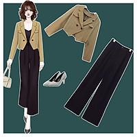 Set vest bigsize phối quần suông kèm áo lót SEBS007 cho người béo mập 55-100kg - Mặc đi tiệc,đi chơi hoặc dạo phố