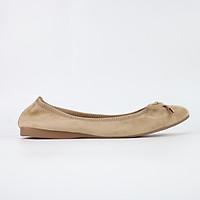 Giày búp bê Cillie da thật mũi tròn gắn nơ 1012
