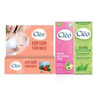 Combo Kem Trị Thâm Nách 35g Và Combo  Kem Tẩy lông Cleo 50g Da Nhạy Cảm - Gel Dịu Da Chậm Mọc Lông Cleo 50g