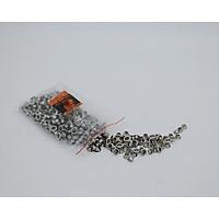 Khoen ô rê sắt mạ 4mm chuyên bấm vải, giấy, da túi 500 cặp