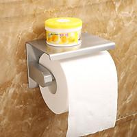 Hộp đựng giấy vệ sinh dán tường có kệ để điện thoại - Inox 304 cao cấp mã HG21 thương hiệu GI-HOME