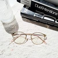 Gọng kính nữ kim loại Lilyeyewear mắt kính tròn thanh mảnh nhẹ nhàng màu sắc thời trang 1030