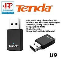 Tenda U9 USB kết nối Wifi U9 chuẩn AC tốc độ 650Mbps - Hàng Chính Hãng