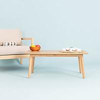 Bàn Sofa - Cafe – Trà Gỗ Cao Su MOHO OSLO 602 Màu Gỗ Tự Nhiên Hình Chữ Nhật