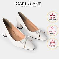Giày cao gót Erosska thời trang nữ mũi vuông phối nơ xinh kiểu dáng công sở cao 5cm CP006