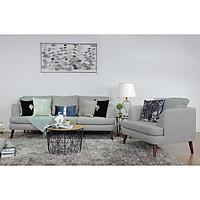 Bộ Ghế Sofa Vải 3+1 Màu Xám AQ028