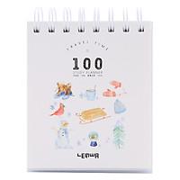 Sổ Kế Hoạch Lò Xo 100 Ngày - 100 Days Daily Planner Notebooks - Mùa Đông (10.6 x 12.4 cm)