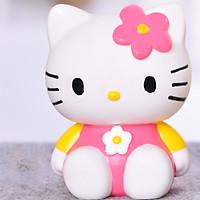 Ống Đựng Tiền Tiết Kiệm Hình Mèo Kitty Áo Hồng Tay Vàng