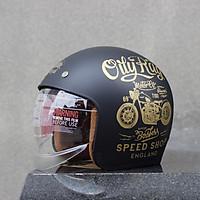 Mũ bảo hiểm Royal kính âm M139 tem V5 đen