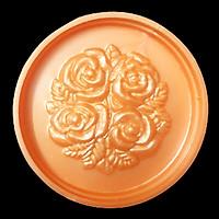 Khuôn ép xôi - Khuôn trung thu 4 hoa hồng chùm kèm lá hình tròn - Mã số 64
