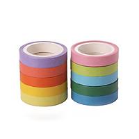Combo 10 cuộn Băng dính trang trí Nhật Bản bảy sắc cầu vồng hộp PVC