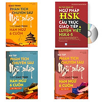 Combo 4 sách: Giáo trình phân tích chuyên sâu Ngữ Pháp theo Giáo trình Hán ngữ 6 cuốn + Bài tập tập 1 (Hán 1-2-3-4) + Bài tập tập 2 (Hán 5-6) và Bài Tập Củng Cố Ngữ Pháp HSK – Cấu Trúc Giao Tiếp & Luyện Viết HSK 4-5 Kèm Đáp Án+ DVD tài liệu