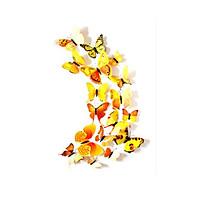Set 12 miếng dán tường hình bươm bướm 3D trang trí nhiều màu sắc nghệ thuật [Tặng móc dán tường treo đồ]
