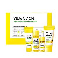 Bộ kit 4 món dưỡng sáng và mờ thâm, nám Chiết Xuất Quả Thanh Yên Some By Mi Yuja Niacin 30 Days Brightening Starter Kit