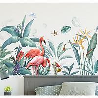 Decal dán tường vườn nhiệt đới -M2