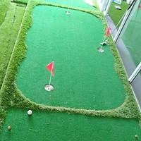 Bộ thảm tập [Putting+Swing] Golf [1,5m x 3m]: Thiết kế mới, Gồm 3 hố cờ inox, 2 tee cao su 54mm & 70mm