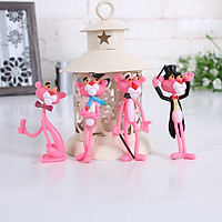 Bộ 4 mô hình đồ chơi báo hồng Pink Panther tinh nghịch BG801