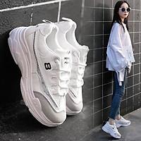 Giày sneaker nữ số 8 kim tuyến xinh xắn
