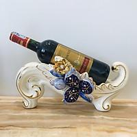 Giá đỡ vang phong cách tân cổ điển họa tiết hoa nổi làm bằng chất liệu sứ cao cấp được sử dụng trưng bày trong nhà hàng khách sạn