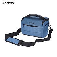 Andoer Cuboid-shaped DSLR Camera Shoulder Bag Portable Fashion Polyester Camera Case for 1 Camera 2 Lenses and Small