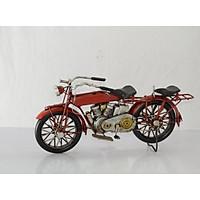 Mô hình Xe máy cổ Kim Loại trang trí, trưng bày/ Vintage Metal Motorcycle Handmade Decoration (1904E-7855)