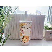 túi 500 gram ống hút giấy Clean paper Straw size 12mm màu trắng dùng để uống trà sữa