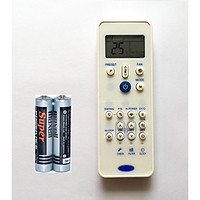 Remote Điều Khiển Cho Máy Lạnh, Máy Điều Hòa Carrier (Kèm Pin AAA Maxell)