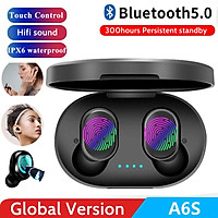 A6S Wireless Earphone for Airdots Earbuds Bluetooth 5.0 TWS Headsets Noise Reduction MIC Universal for iPhone Huawei Samsung Xiaomi Redmi