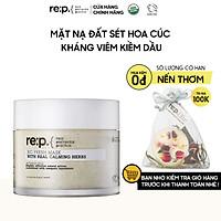 Mặt Nạ Đất Sét Hoa Cúc Giảm Viêm, Kiềm Dầu Dành Cho Da Nhạy Cảm RE:P Bio Fresh Mask With Real Calming Herbs 130g