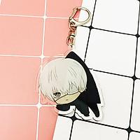 ( Mica trong acrylic ) Móc khóa Tokyo Ghoul Ngạ Quỷ Vùng Tokyo Kaneki Ken chibi anime