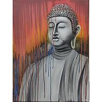 Tranh sơn dầu họa sỹ sáng tác vẽ tay: PHẬT TÂM