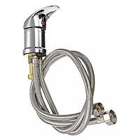 Vòi chậu rửa_lavabo nóng lạnh Đồng Thau LN0533