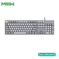 MIIIW Wired Mechanical Keyboard G06 104 Keys N-key Rollover with Six-color Backlight Modes/Game Mode/Red Blue