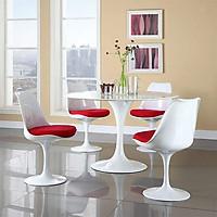 Bộ bàn ăn tròn 4 ghế cao cấp hiện đại