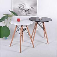 2 chiếc bàn cafe mặt tròn màu đen và trắng cao cấp (mã 002)