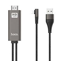 Cáp Chuyển Đổi Lightning Sang HDMI HDMI Hoco UA14 Dài 2m + Tặng Kèm  Miếng Dán Socket Quấn Đầu Cáp - Hàng Chính Hãng