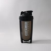 Bình lắc Shaker Wheylabs 600ml màu đen cá tính, hợp phong cách Gymer - Nhựa cao cấp, bền, đẹp
