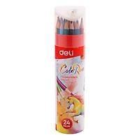 Ống Bút Chì 24 Màu Và Đồ Chuốt Chì Deli C00327