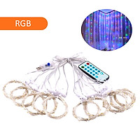 D C 5 V 5 W 300 L-EDs Fairy Music Curtain Light S-tring Light with Remote Control Controller USB Powered Operated
