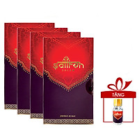 Nhụy hoa nghệ tây Saffron Salam 4 hộp 0.5gr tặng kèm 1gr bột Saffron