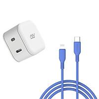Combo Sạc Innostyle USB-C 18W + Cáp JAZZY USB-C to Lightning 1.2m MFI
