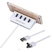 USB OTG 4 cổng kết nối điện thoại với chuột và bàn phím chơi game mobile